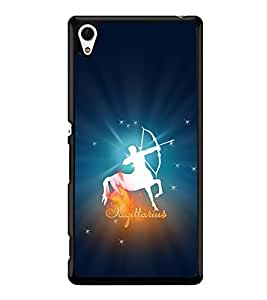 Fuson Premium 2D Back Case Cover Sagittarius With Black Background Degined For Sony Xperia Z4::Sony Xperia Z4 E6553