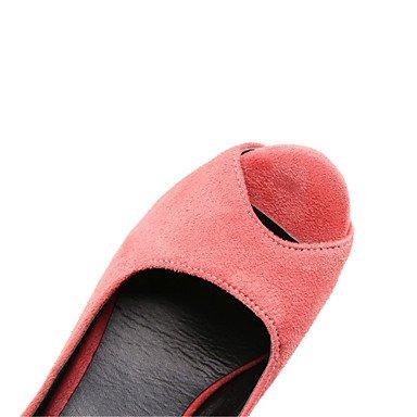 LvYuan Damen-Sandalen-Büro Kleid Lässig-Samt-Stöckelabsatz-Andere-Schwarz Rosa Lila Black