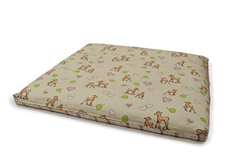 """NEU! Bio Luxus Wickelauflage""""Bambi"""", Bio Dinkelspelz, Bezug aus Bio Baumwolle mit Nässeschutz"""