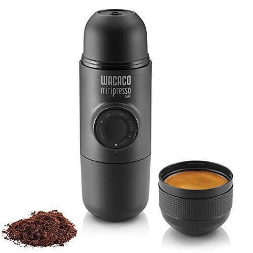 Wacaco Minipresso GR, tragbare Espressomaschine, Kompatibel gemahlener Kaffee, kleine...