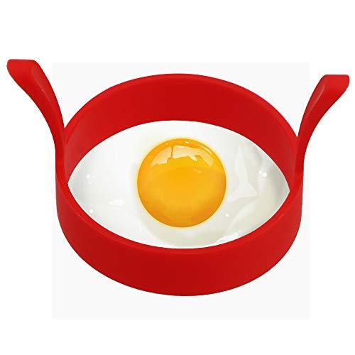 Ei Runde Form Küchenzubehör Praktische Silikon Pfannkuchen Ring Omelette Spiegelei Formen Kochen Werkzeug rot Ei-ring