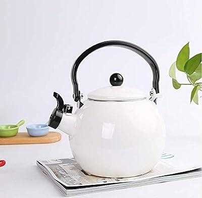 Bouilloire Émaillée Bouilloire Théières 2.5L Japanese Style Whistle Kettle Thick Enamel Kettle Home Enamel Cool Kettle Teapot Gas Cooker Universal