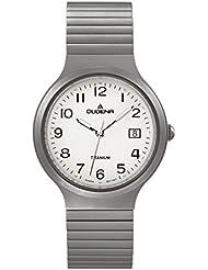 Dugena Herren-Armbanduhr Titan Analog Quarz Leder 4460529