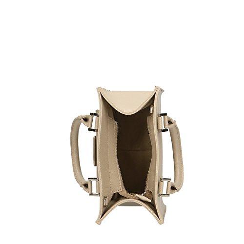 Chicca Borse Borsa a mano in pelle 21x20x10 100% Genuine Leather Fango Footlocker Fotos Precio Barato 3KspRJy
