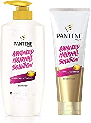 Pantene Hair Fall Control Shampoo and Conditioner (650ml, 180ml) - Advanced Hair Fall Solution
