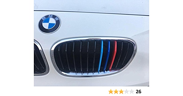 BizTech/® Inserti a clip per griglia compatibili con BMW Serie 1 F20 F21 2015 2016 2017 11 travi statistiche bar M Power M Sport Tech cofano copertura a strisce renali