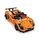 The perseids ferngesteuertes Auto, bausteine contruction DIY Fahrzeug Spielzeug (Orange)