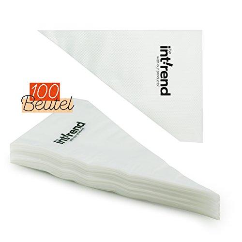 int!rend 100 Einweg Spritzbeutel | Spritztüten | Einwegspritzbeutel | aus stabilem PE (0,04 mm) - 31 cm lang - 20 cm Öffnung