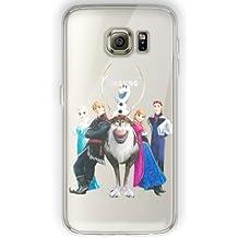 Galaxy S6 Frozen Estuche de Silicona / Cubierta de Gel para El Samsung Galaxy S6 (S6/G920) / Protector de Pantalla y Tela / iCHOOSE / Olaf en El Grupo