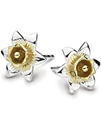 Heritage Sterling Silver and Gold Plate Carey Daffodil Stud Earrings 4230GD
