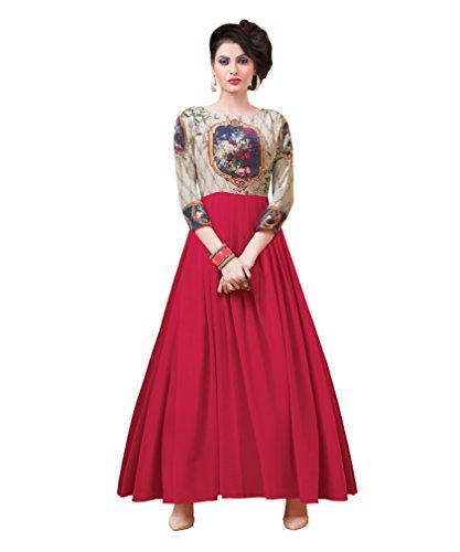Applecreation western gowns for women party wear (Pink_10BSE7163_6)