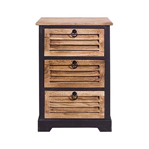 Rebecca Mobili Badezimmerschrank, Kommode mit 3 Schubladen, dunkles Holz, für Wohneinrichtung Ideen für Schlafzimmer Bad Haus - Maße: 63 x 42 x29 cm (HxLxB) - Art. RE4549 -