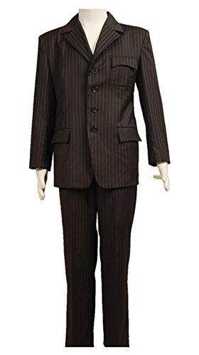 Fuman Doctor Who Dr Braun Nadelstreifen Suit Anzug Cosplay Kostüm Herren XXL (Nadelstreifen-anzug)