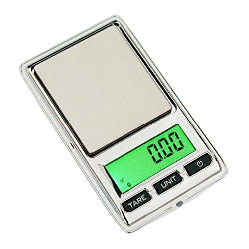 12shage Digitale Milligramm Waage, 0,01g - 500g Gramm Mini Digital LCD Balance Gewicht Tasche Schmuck Diamant Skala