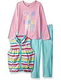 PUMA Girls' Three Piece Micro Fleece Set