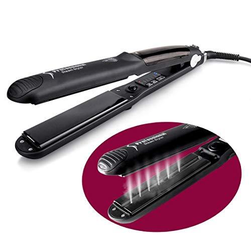 tter, Spray elektrische Schiene, professionelle Haarglätter Bügeleisen einstellbare Temperatur,Black-OneSize ()