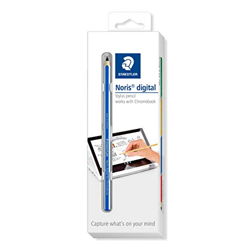 STAEDTLER blauer Noris Digital for Chromebook EMR Stylus, Touchscreen-Eingabestift mit feiner 0,7 mm Spitze, 18022G-3