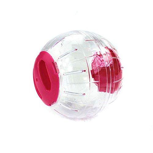Pet Online Hamster ejercicio de pelota de juguete de plástico crystal ball sin stent hamster Runner Runner, ejercicio 15cm, rosa