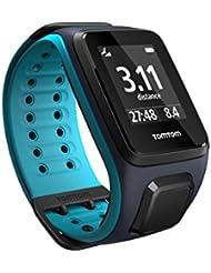 TomTom Runner 2 - Montre GPS - Bracelet Large Bleu Marine / Turquoise Large (ref 1RE0.001.01)