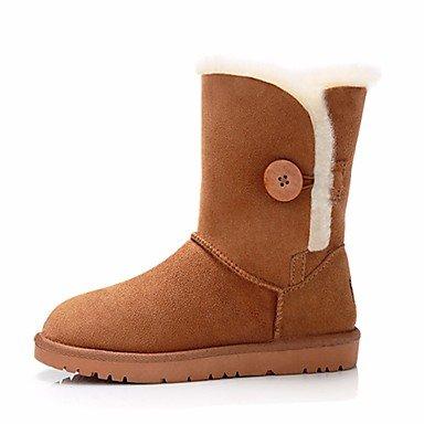 Stivali Donna Comfort PU Suede Spring Casual Comfort Cammello Giallo Chiaro Giallo Piatto Camel
