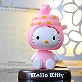 Sonwaohand Zeichentrickspielzeug Hello Kitty Shake Kopf Puppe Niedliche Autodekoration Auto Schmuck...