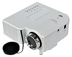 Zakk Mini UC-28 Portable Projector With USB And Inbuilt Speakers (White)