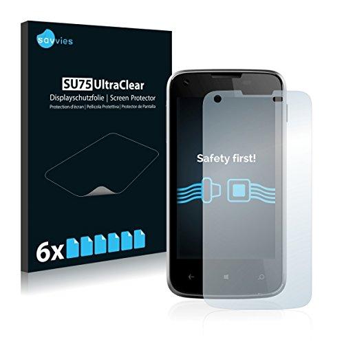 6x Savvies SU75 UltraClear Bildschirmschutz Schutzfolie für Kazam Th&er 340W (ultraklar, mühelosanzubringen)