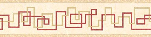 A.S. Création selbstklebende Bordüre Only Borders 9 Borte beige rot 904218