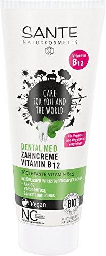 Sante Naturkosmetik Dental med Zahncreme Vitamin B12 75ml, 1er Pack (1 x 75 ml)