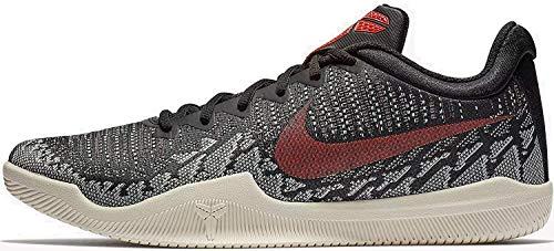 Nike Herren Mamba Rage Fitnessschuhe, Mehrfarbig (Black/Bright Crimson/Sail 060), 44 EU