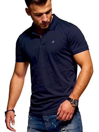 JACK & JONES Polo da Uomo Maglietta Manica Corta Maglietta Camicia (Large, Total Eclipse)
