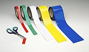 Blue : Magnetic Easy Wipe Racking Strip 100mm wide x 10m long - Magnetic Tape - Blue