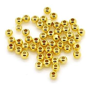 vergoldet 925 Silber 100 Stück Quetschperlen 2 mm