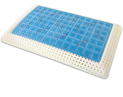 Marcapiuma - cuscino in memory gel modello saponetta con fodera 100% cotone guanciale ortopedico cervicali fresco estate - caldo inverno - dispositivo medico detraibile 19% dalle tasse made in italy