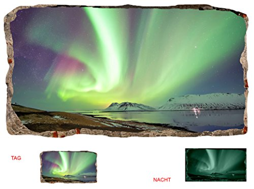 Startonight 3D Tapete Nordlicht, Wandmalerei Bild an der Wand Großformat Modern Muster Dekorative Kunst Wand 120 x 220 CM