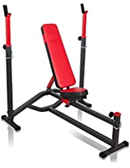 Banc de musculation MS-L105 de Marbo-Sport avec support haltère repose-barre