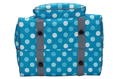 7098eb71430a Preiswert SEMPLIX Overlocktasche-Coverlocktasche Polka Dots, Petrol ...