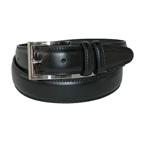 Aquarius Men's Big & Tall Leather Padded Belt with Satin