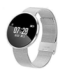 Sportivo Smartwatch Impermeabile IP67,Hongtianyuan Activity Tracker Orologio Sport con Cardiofrequenzimetro pressione sanguigna Pedometro (Argento)