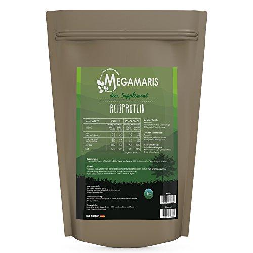 Megamaris Reisprotein 1kg Beutel (Schoko) Trocken-fettarme Milch