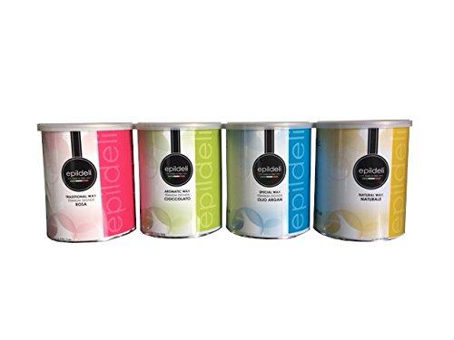 4 pots de cire à épiler 800 ml au choix parmi une large gamme