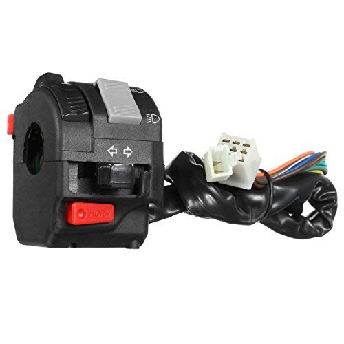 Alamor 12V Motorrad Scheinwerfer Start Schalter Horn Blinker Für 7/20 mm 22Mm Lenker Linke Seite (Kawasaki Dirt Bike Handschuhe)