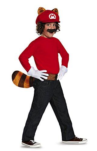 Disguise Mario Raccoon Super Mario Bros. Nintendo Child Kit, One Size Child, One Color by (Kit Kostüme Kinder Mario Zubehör)