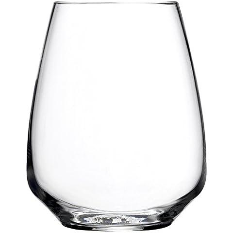 Bormioli Luigi Atelier Set Bicchieri Riesling, Vetro Sonoro, Trasparente, 40 cl, 6 Pezzi