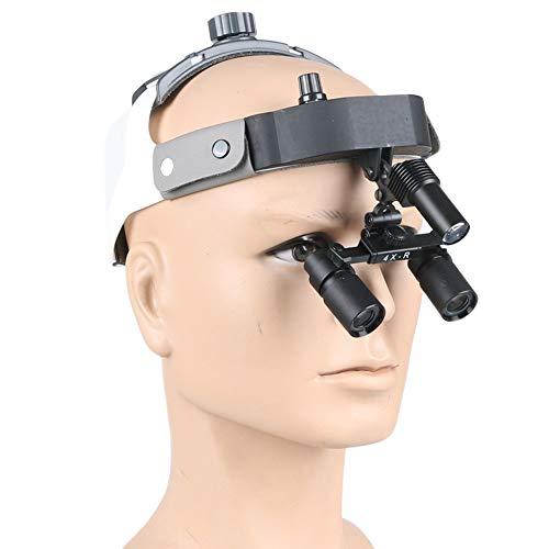 DX.JZ Dentale LED Chirurgico Loupe 4X 420mm Loupe Lente d'Ingrandimento Medica per Stomatologia, Ginecologia, Cardiologia, Neurochirurgia e Oftalmologia