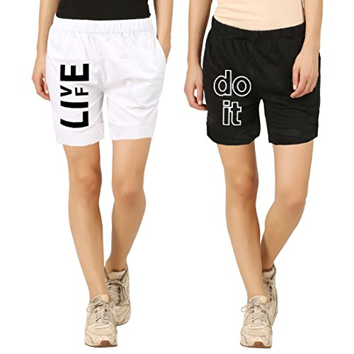 Hotfits-Womens-Cotton-Graphic-Shorts