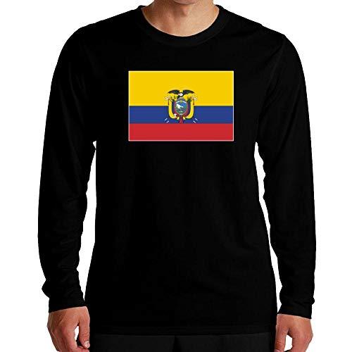 Idakoos Ecuador Flag Rectangular Langarm T-Shirt M -