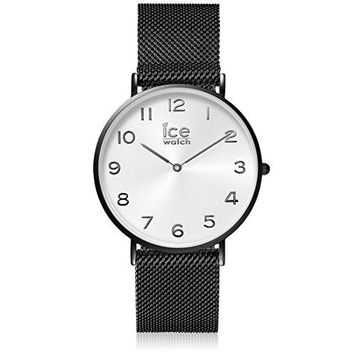 ICE-Watch - 012699 - City Milanese - Montre Homme - Cadran Blanc - Bracelet Acier Noir - Medium - 2H