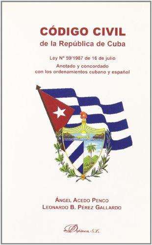 Portada del libro Código Civil De La República De Cuba