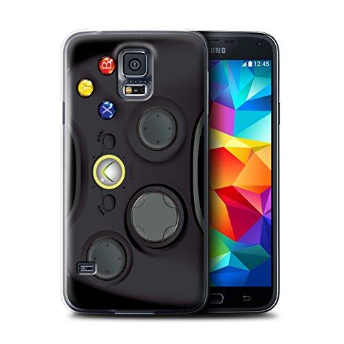 Stuff4 Hülle / Case für Samsung Galaxy S5/SV / Schwarz Xbox 360 Muster / Spielkonsolen Kollektion Haut Xbox360